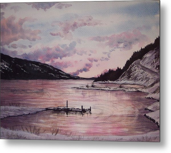 Rainbow Lodge Bay Metal Print