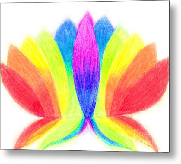 Rainbow Lotus Metal Print by Chandelle Hazen