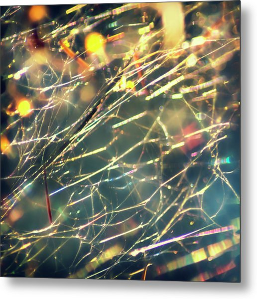 Rainbow Network Metal Print