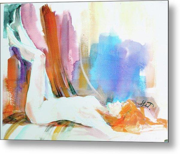 Rainbow Nude Metal Print