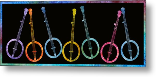 Rainbow Of Banjos Metal Print