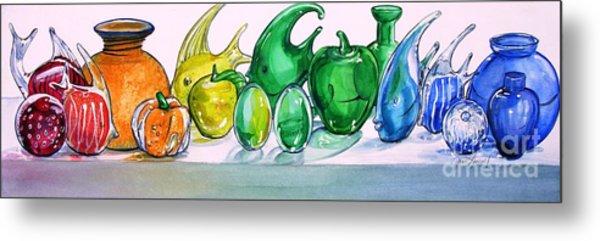 Rainbow Of Glass Metal Print