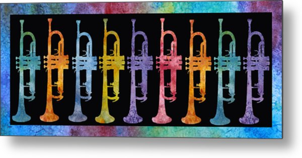 Rainbow Of Trumpets Metal Print