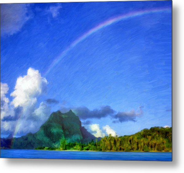 Rainbow Over Bora Bora Metal Print