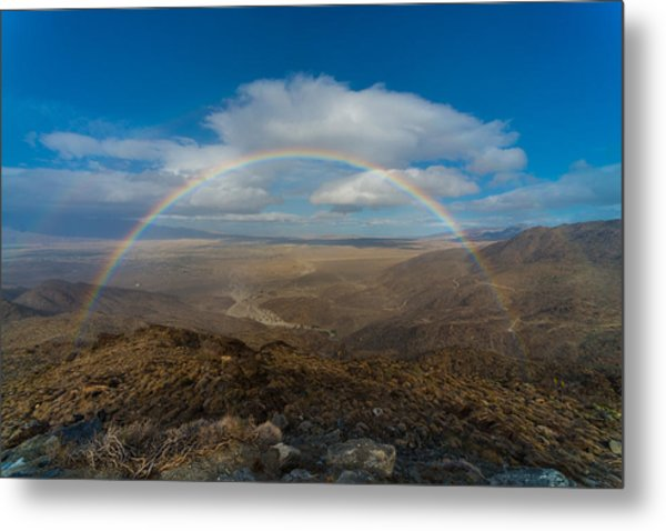 Rainbow Over Borrego Springs Metal Print