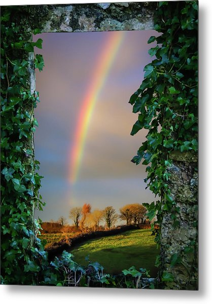 Metal Print featuring the photograph Rainbow Over County Clare, Ireland, by James Truett