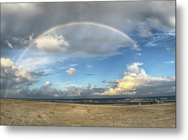 Rainbow Over Ocean Metal Print