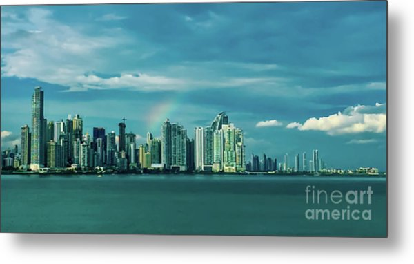Rainbow Over Panama City Metal Print