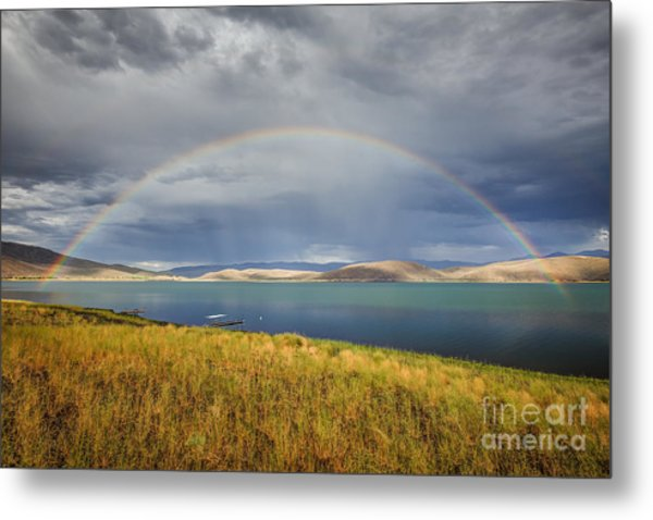 Rainbow Over Topaz Lake Metal Print