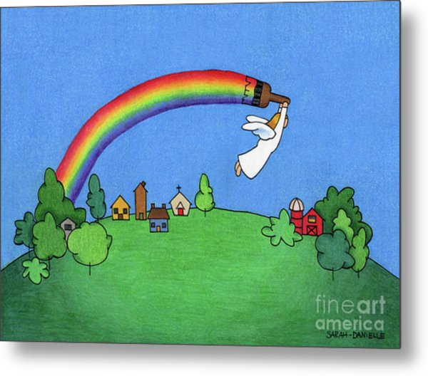Rainbow Painter Metal Print