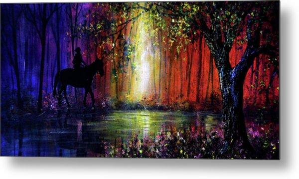 Rainbow Ride Metal Print by Ann Marie Bone