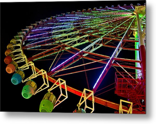 Rainbow Ride Metal Print