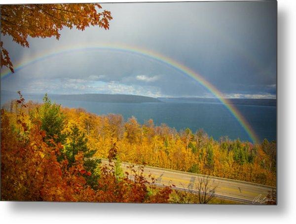 Rainbow Road Metal Print
