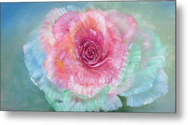 Rainbow Rose Metal Print by Ann Marie Bone