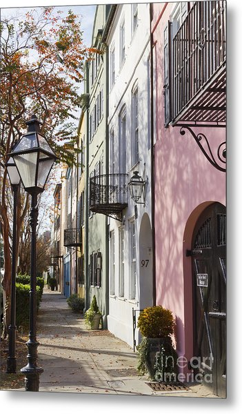 Rainbow Row Charleston Sc 3 Metal Print