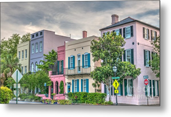Rainbow Row II Metal Print