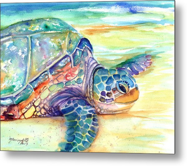 Rainbow Sea Turtle 2 Metal Print