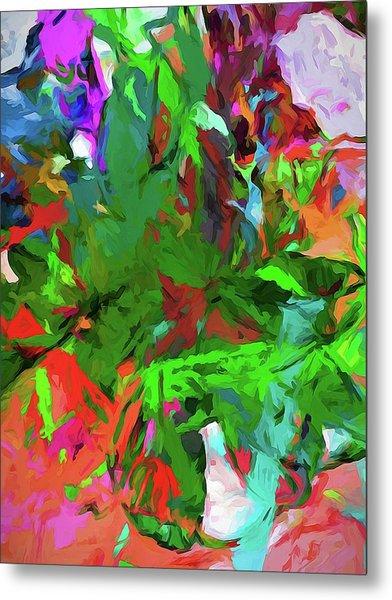 Rainbow Tropic Metal Print