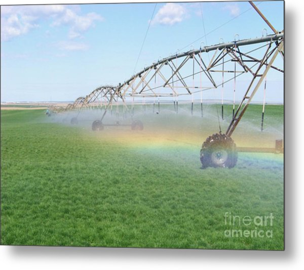 Rainbow Under The Pivot Metal Print
