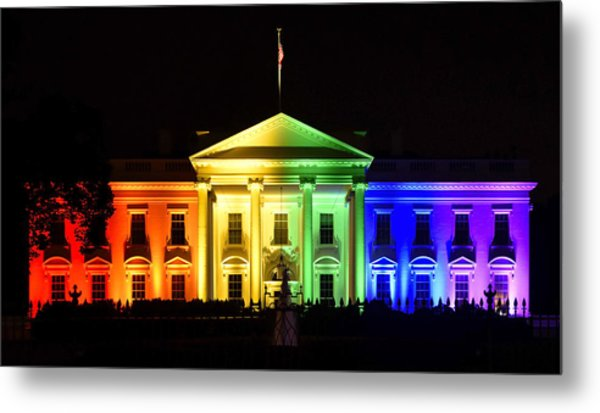 Rainbow White House  - Washington Dc Metal Print