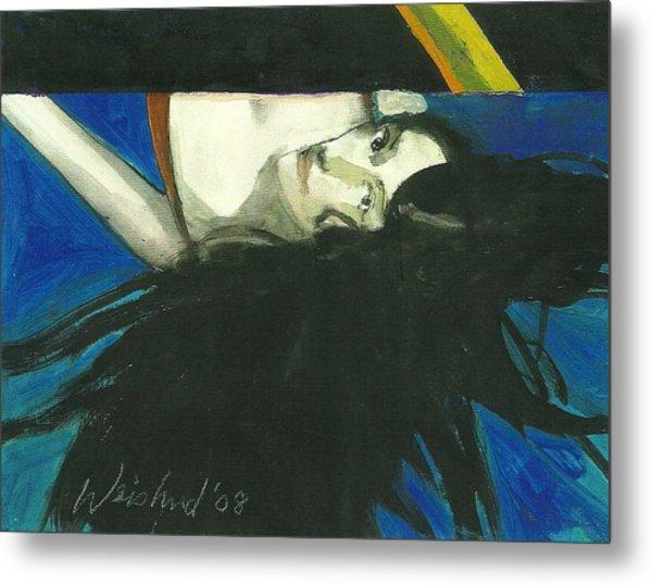 Rainbow  Woman Black Hair Metal Print by Harry  Weisburd