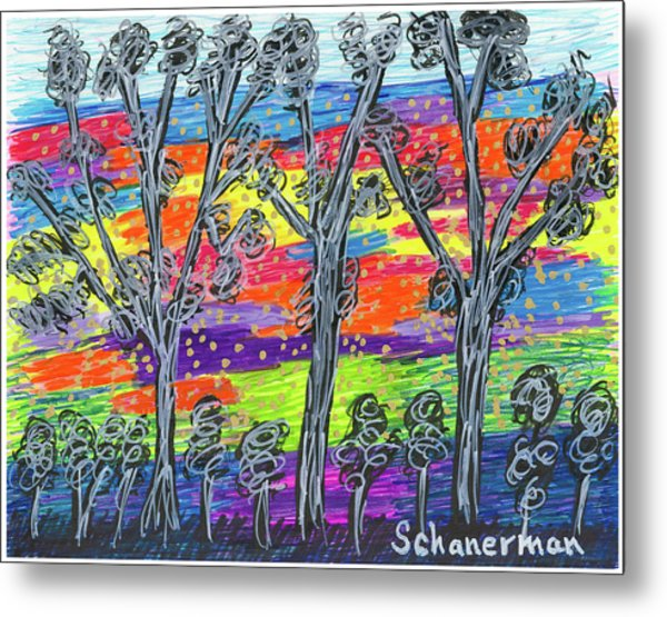 Rainbow Woods Metal Print