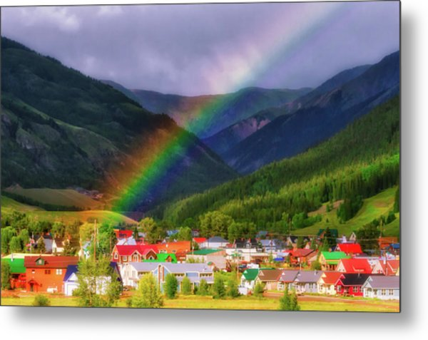 Rainbow's End Metal Print