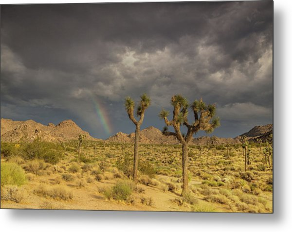 Rainbows Thunderstorms And Sunsets Metal Print