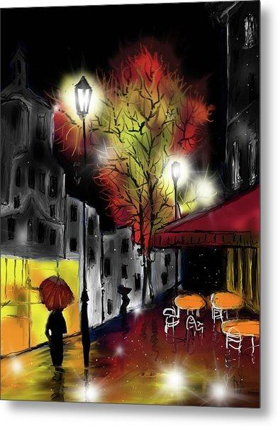 Raining And Color Metal Print