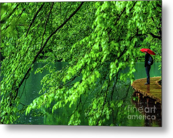 Raining Serenity - Plitvice Lakes National Park, Croatia Metal Print