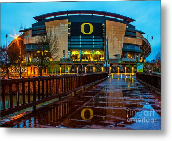 Rainy Autzen Stadium Metal Print