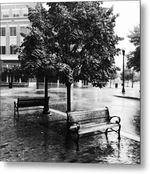Rainy Day - A Moody Black And White Photograph Metal Print