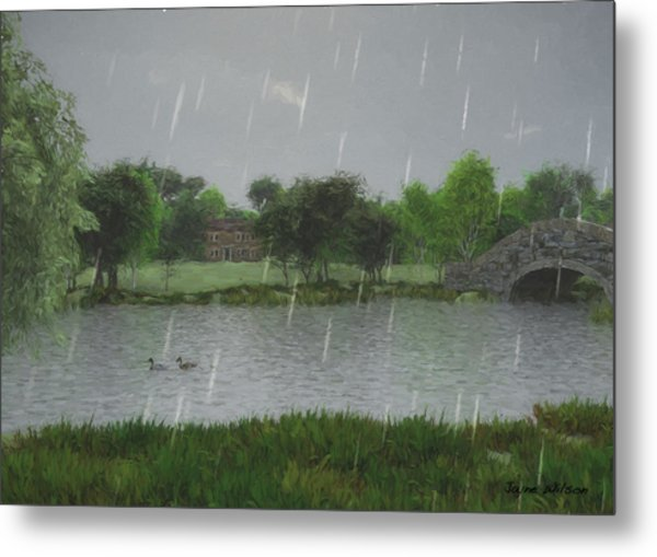Rainy Day At The Lake Metal Print