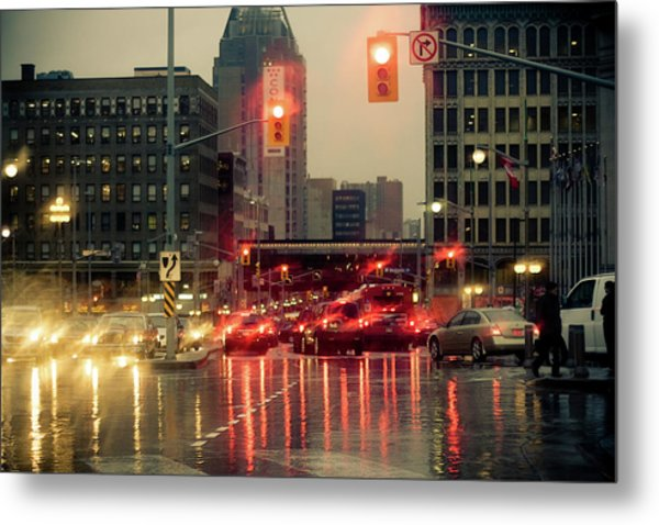 Rainy Day In Ottawa Metal Print