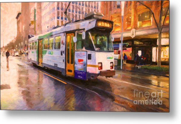 Rainy Day Melbourne Metal Print