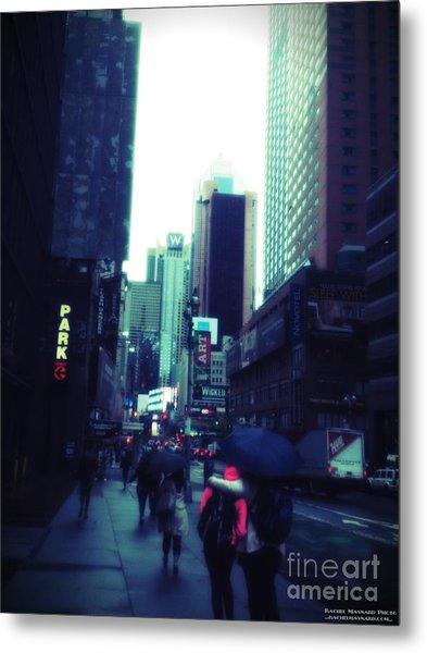 Metal Print featuring the photograph Rainy Day New York City by Rachel Maynard