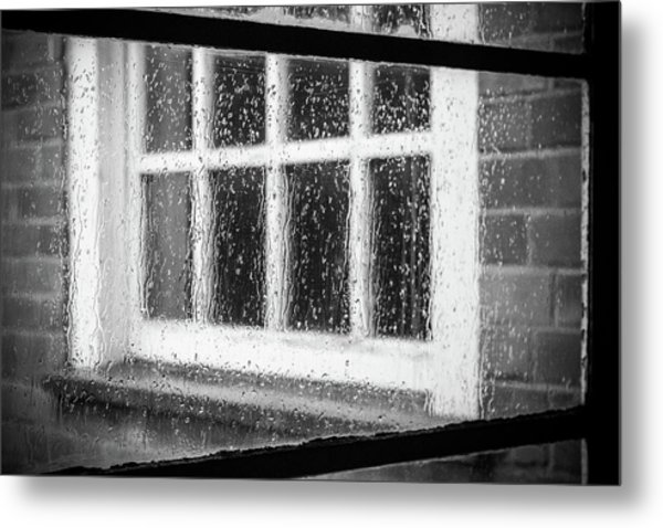 Rainy Day Window Metal Print
