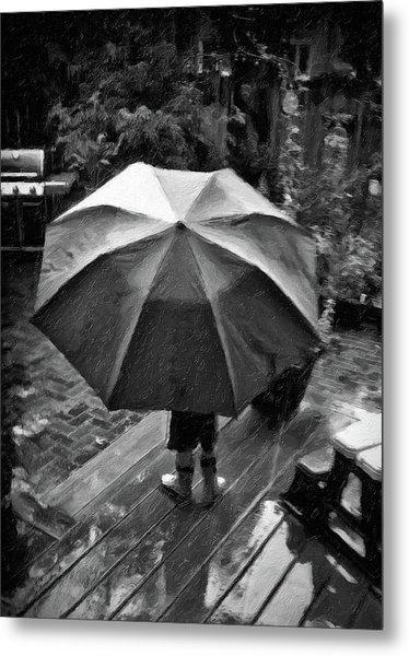 Rainy Day Metal Print by Winnie Chrzanowski