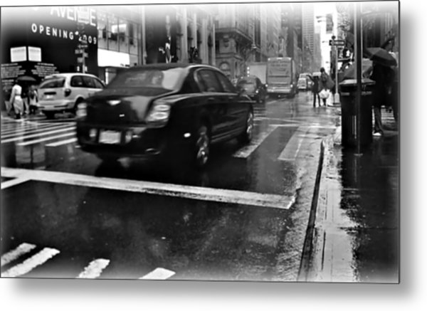 Rainy New York Day Metal Print