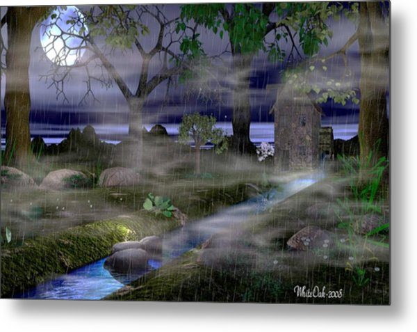 Rainy Night Metal Print