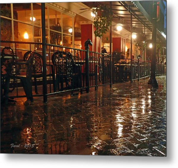 Rainy Night In Gainesville Metal Print