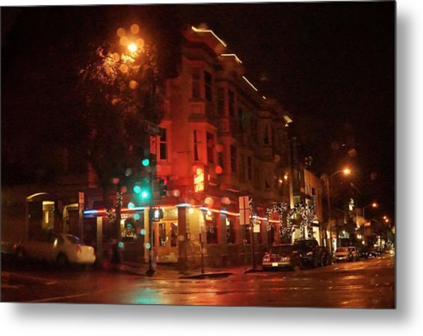 Rainy Night San Francisco Metal Print