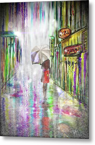 Rainy Paris Day Metal Print