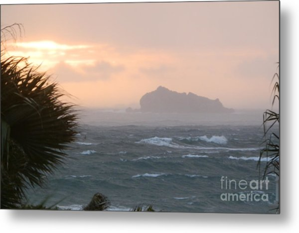 Rainy Xmas Sunrise Metal Print