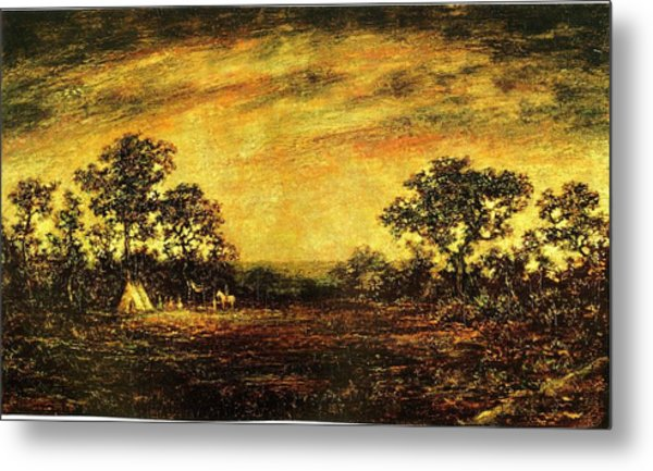 Ralph Blakelock, Indian Encampment Metal Print