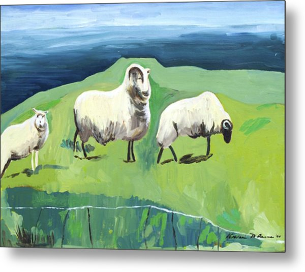 Ram On A Hill Metal Print