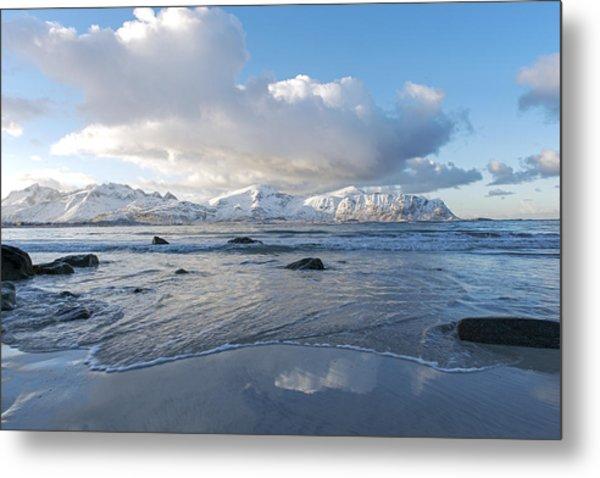 Ramberg Beach, Lofoten Nordland Metal Print