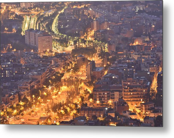 Night Street Metal Print