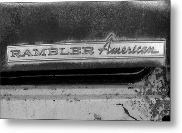 Rambler American Metal Print by Audrey Venute