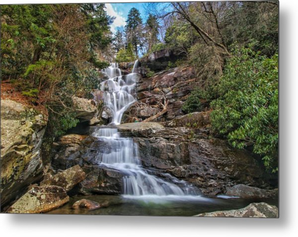 Ramsey Cascades - Tennessee Waterfall Metal Print